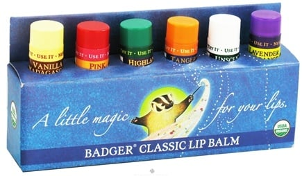 DROPPED: Badger - Classic Lip Balm Gift Set - 6 x 0.15 oz. Tubes