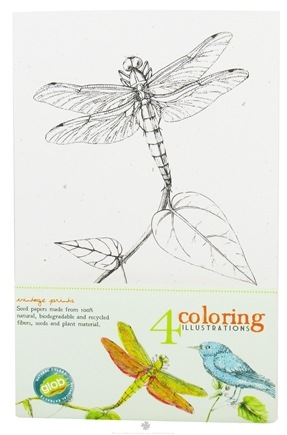 DROPPED: ColorKitchen - Glob Coloring Illustrations - 4 Pack CLEARANCE PRICED