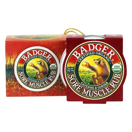 Badger - Sore Muscle Rub Ornament Cayenne & Ginger - 0.75 oz.