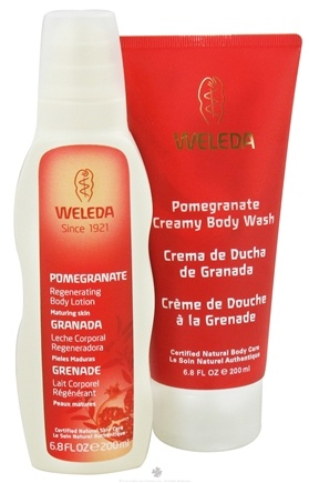 DROPPED: Weleda - Creamy Body Wash and Regenerating Body Lotion Holiday Kit Pomegranate - 2 x 6.8 fl. oz