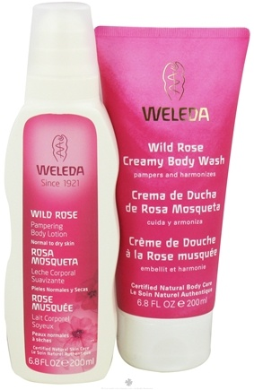 DROPPED: Weleda - Creamy Body Wash and Pampering Body Lotion Holiday Kit Wild Rose - 2 x 6.8 oz.