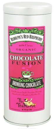 DROPPED: The Tea Room - Chocolate Fusion Organic Drinking Chocolate Rudolph's Red Raspberry - 6 oz.