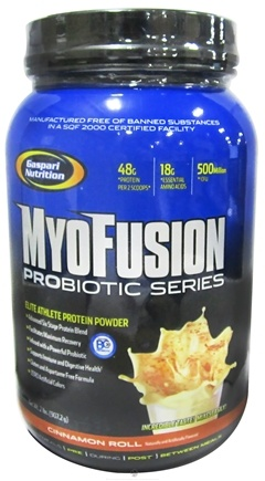 DROPPED: Gaspari Nutrition - Myofusion Probiotic Series Protein Cinnamon Roll - 2 lbs.