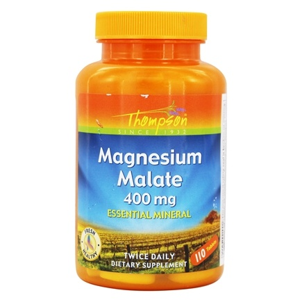 Thompson - Magnesium Malate 400 mg. - 120 Tablets