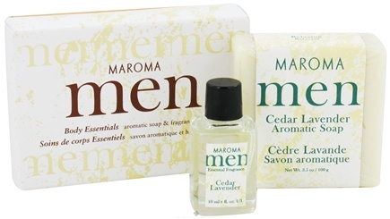 DROPPED: Maroma - Men's Aromatic Soap and Fragrance Oil Gift Set Cedar Lavender - CLEARANCE PRICED