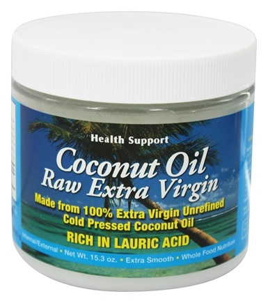 Health Support - Coconut Oil Raw Extra Virgin - 15.3 oz.