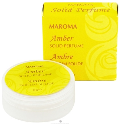 DROPPED: Maroma - Solid Perfume Amber - 8 Grams CLEARANCE PRICED