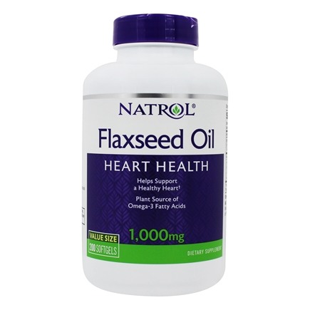 Natrol - Omega-3 Flax Seed Oil 1000 mg. - 200 Softgels