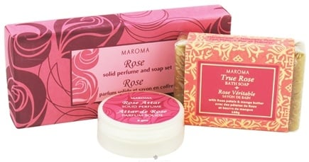 DROPPED: Maroma - Solid Perfume and Soap Gift Set Rose - CLEARANCE PRICED