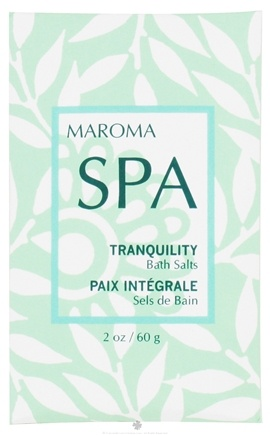 DROPPED: Maroma - Spa Bath Salts Tranquility - 2 oz. CLEARANCE PRICED