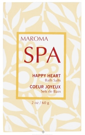 DROPPED: Maroma - Spa Bath Salts Happy Heart - 2 oz. CLEARANCE PRICED