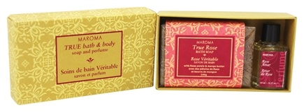 Maroma - Bath and Body Soap and Perfume Gift Set True Rose - CLEARANCE PRICED