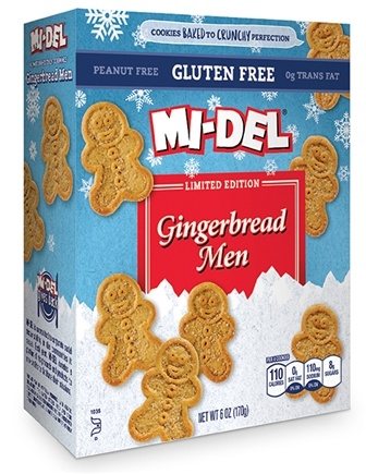 DROPPED: Mi-Del - All Natural Gingerbread Men Cookies Gluten-Free - 6 oz.