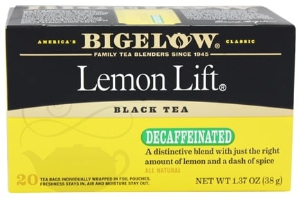 Bigelow Tea - Black Tea Decaffeinated Lemon Lift - 20 Tea Bags