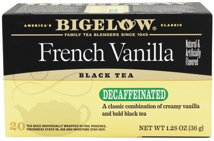 Bigelow Tea - Black Tea Decaffeinated French Vanilla - 20 Tea Bags