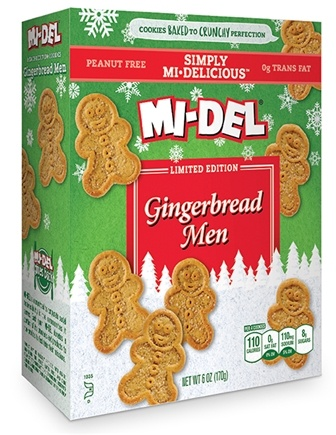 DROPPED: Mi-Del - All Natural Gingerbread Men Cookies - 6 oz.
