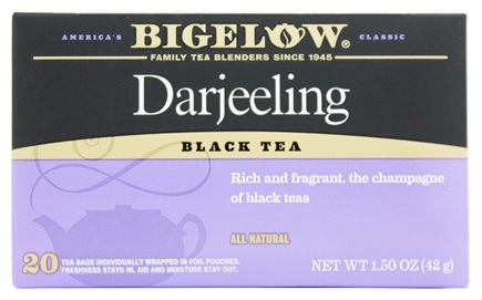 Bigelow Tea - Black Tea Darjeeling - 20 Tea Bags
