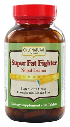 Only Natural - Super Fat Fighter Nopal Leaner Formula - 90 Tablets