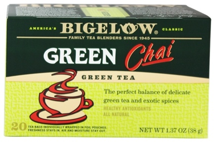 Bigelow Tea - Green Tea Chai - 20 Tea Bags