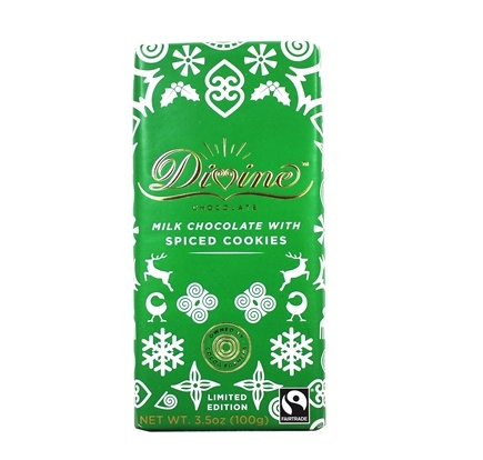 Divine - Milk Chocolate Bar with Spiced Cookies - 3.5 oz.