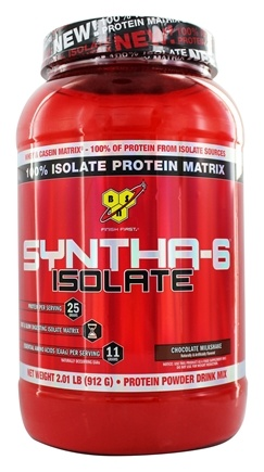 BSN - Syntha-6 100% Isolate Protein Matrix Chocolate Milkshake - 2.01 lbs.
