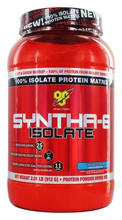 BSN - Syntha-6 100% Isolate Protein Matrix Vanilla Ice Cream - 2.01 lbs.
