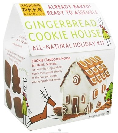 DROPPED: Dancing Deer Baking Co. - Gingerbread Cookie House All Natural Holiday Kit Pre Baked - 39 oz.