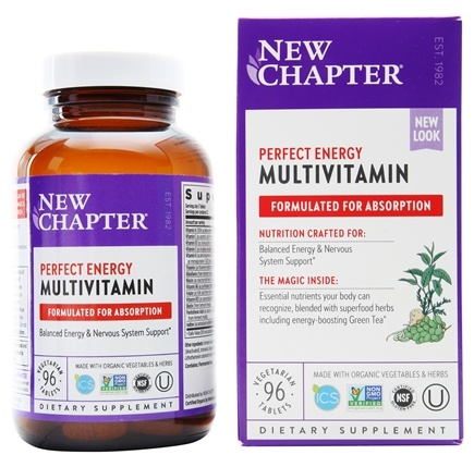 New Chapter - Perfect Energy Whole-Food Multivitamin - 96 Tablets