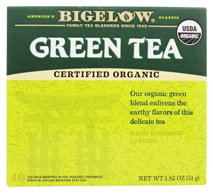 DROPPED: Bigelow Tea - Green Tea Certified Organic - 40 Tea Bags