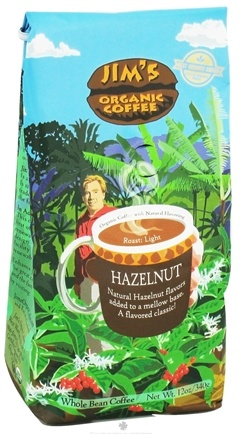 DROPPED: Jim's Organic Coffee - Whole Bean Coffee Hazelnut - 12 oz.