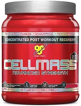 DROPPED: BSN - Cellmass 2.0 Advanced Strength Blue Raz - 50 Servings - 1.06 lbs.