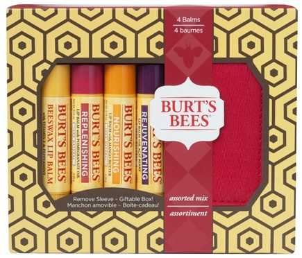 DROPPED: Burt's Bees - Lip Balm Holiday Gift Set Assorted Mix- 4 Tubes with Holder