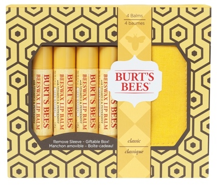 DROPPED: Burt's Bees - Lip Balm Holiday Gift Set Classic - 4 Tubes with Holder