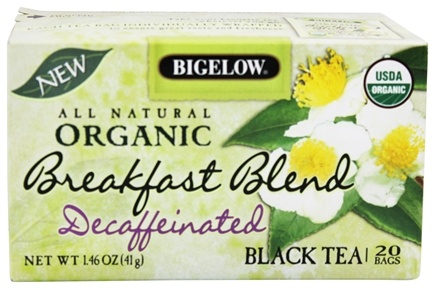 DROPPED: Bigelow Tea - All Natural Organic Black Tea Decaffeinated Breakfast Blend - 20 Tea Bags