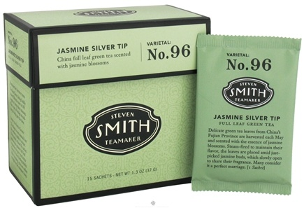 DROPPED: Steven Smith Teamaker - Full Leaf Green Tea Jasmine Silver Tip No. 96 - 15 Tea Bags