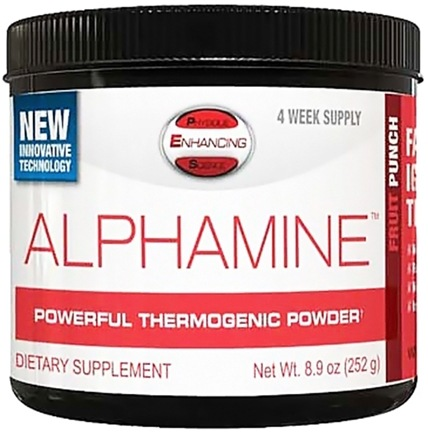 DROPPED: PES: Physique Enhancing Science - Alphamine Powerful Thermogenic Powder Fruit Punch - 4-Week Supply - 8.9 oz. CLEARANCE PRICED