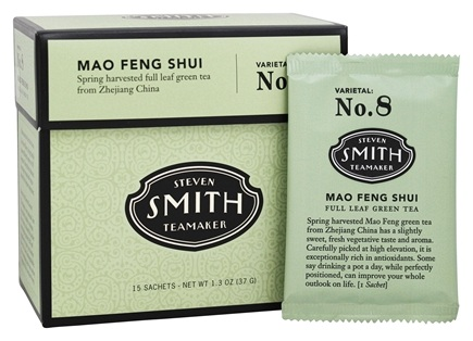 DROPPED: Steven Smith Teamaker - Full Leaf Green Tea Mao Feng Shui No. 8 - 15 Tea Bags