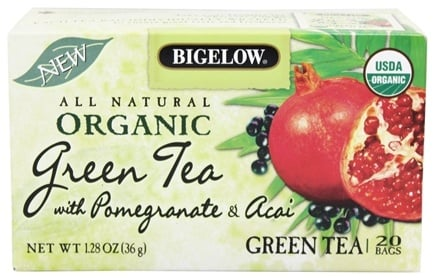 Bigelow Tea - All Natural Organic Green Tea With Pomegranate & Acai - 20 Tea Bags