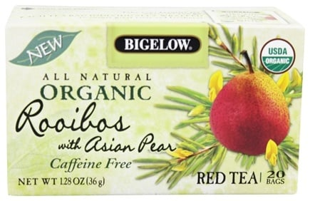 DROPPED: Bigelow Tea - All Natural Organic Red Tea Rooibos With Asian Pear - 20 Tea Bags