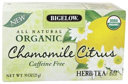 DROPPED: Bigelow Tea - All Natural Organic Herb Tea Caffeine Free Chamomile Citrus - 20 Tea Bags