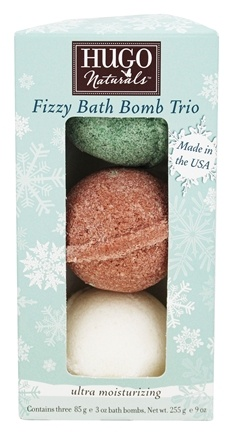 DROPPED: Hugo Naturals - Winter Edition Fizzy Bath Bomb Trio - 3 x 3 oz. - CLEARANCE PRICED