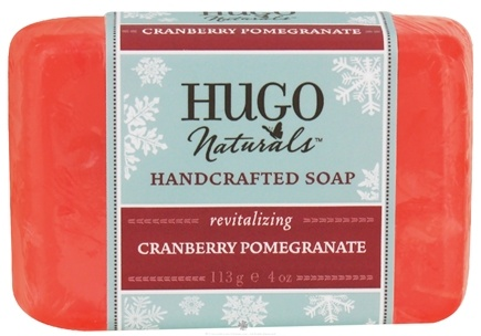 DROPPED: Hugo Naturals - Handcrafted Soap Winter Edition Cranberry Pomegranate - 4 oz.