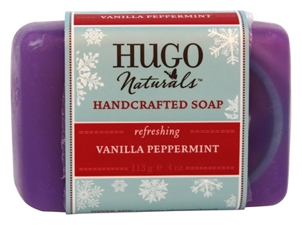 DROPPED: Hugo Naturals - Handcrafted Soap Winter Edition Vanilla Peppermint - 4 oz.