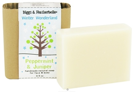 DROPPED: Biggs & Featherbelle - Handmade Natural Soap Winter Wonderland Peppermint & Juniper - 3.5 oz.