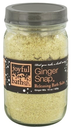DROPPED: Joyful Bath Co - Bath Salts Releasing Ginger Snap - 15 oz. CLEARANCE PRICED