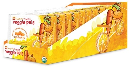 HappyBaby - Happy Times Veggie Pals Organic Carrot Orange Apple Chews - 0.7 oz.