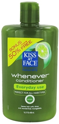 DROPPED: Kiss My Face - Conditioner Whenever Everyday Use Green Tea & Lime - 16.5 oz. Bonus 50% More Free