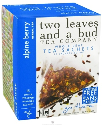 DROPPED: Two Leaves Tea Company - Herbal Tea Alpine Berry - 15 Tea Bags Formerly Two Leaves and a Bud