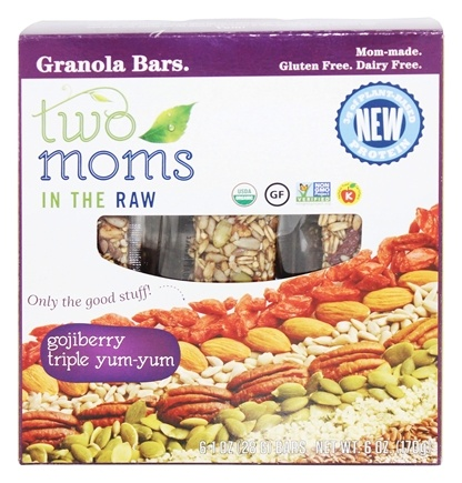 Two Moms in The Raw - Gluten Free Organic Granola Gojiberry Triple Yum-Yum - 6 Bars
