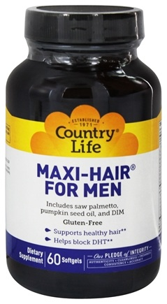 Country Life - Maxi-Hair for Men - 60 Softgels